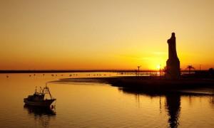 Huelva, la pequeña península, en tierra llana, de la cuenca del Guadiana