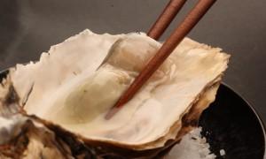 Ostrón con Sake a la Parilla, aperitivo marino por Albert Raurich