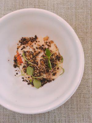 Verduras estofadas, apio-nabo y tierra, Pepe Solla