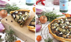 Vegetables and Honey Tarte Tatin