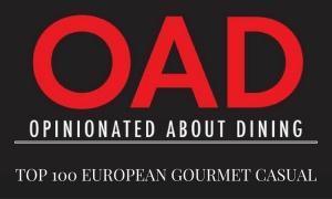 Lista de los 100 mejores Gourmet Casual Restaurants de Europa según Opinionated About Dining