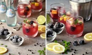 Cocktail de Moras y Tónica