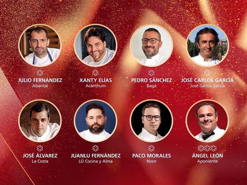 Los chefs de la Gala Michelin 2020