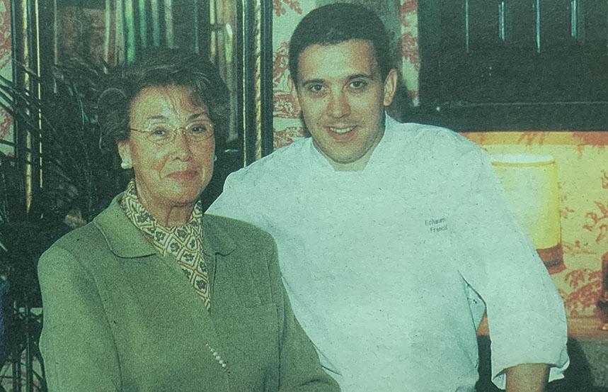 Francis Paniego junto a su madre Marisa Sánchez