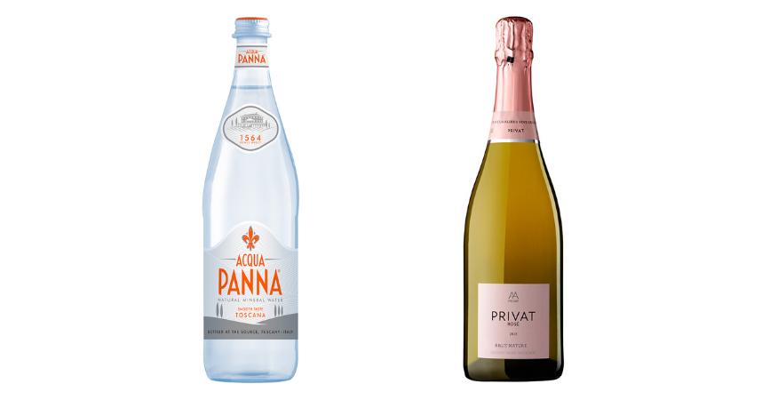 Acqua Panna y Privat Rosé