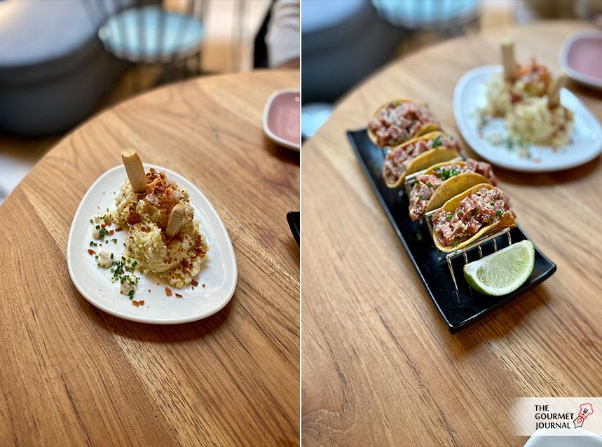 Ensaladilla Rusa y Tacos de Salchichón de Málaga