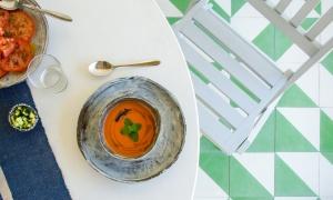 Gazpacho y salmorejo, platos sanos y refrescantes