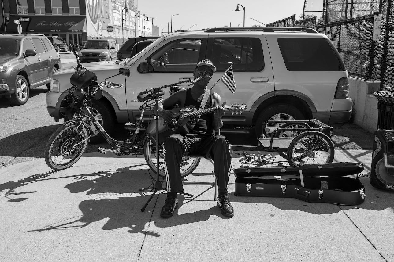 Musica callejera en Detroit