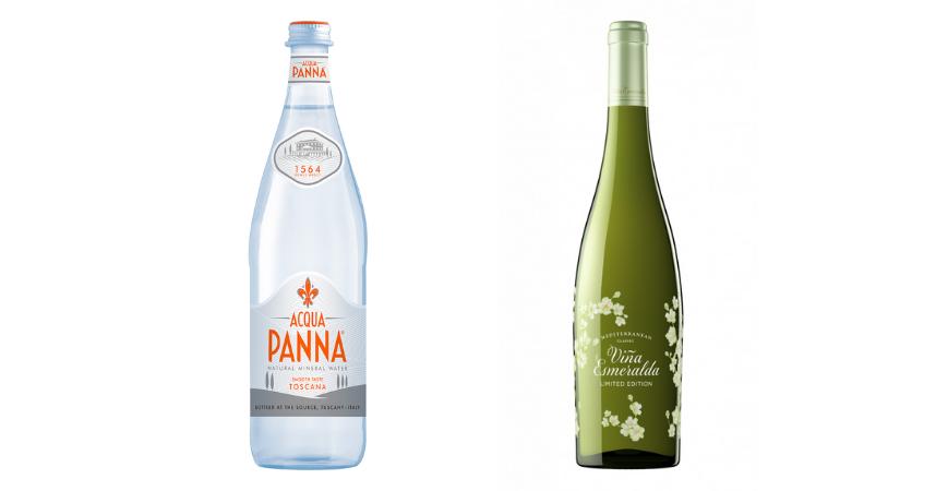 Acqua Panna y Viña Esmeralda