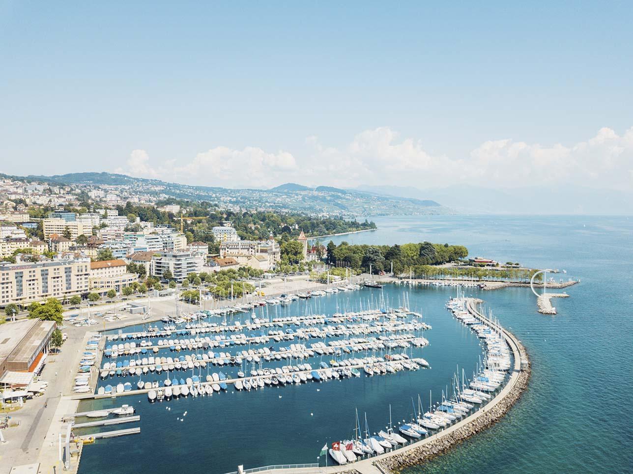 Vistas al puerto de Lausanne-Ouchy