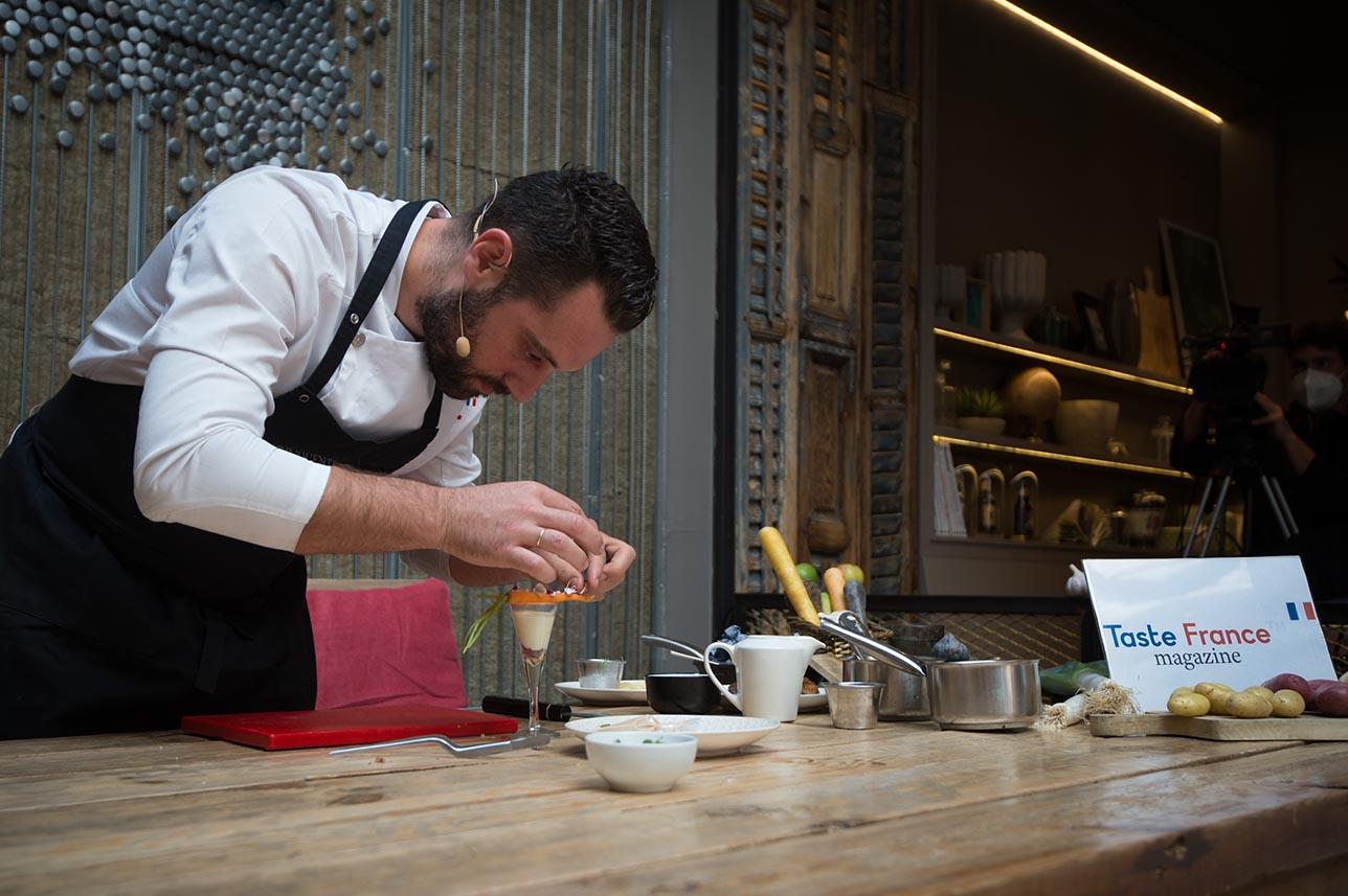 El chef Fran Vicente preparó diferentes propuestas con acento francés